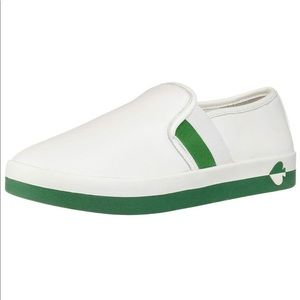 Kate Spade Sandy Leather Sneakers Green & White